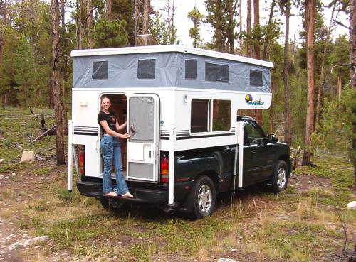 The Compact Caribou Goes Under Trees Threw Most Drive Ins And Of Course Has Less Wind Resistance For Better Gas Mileage Than A Hard Side Camper